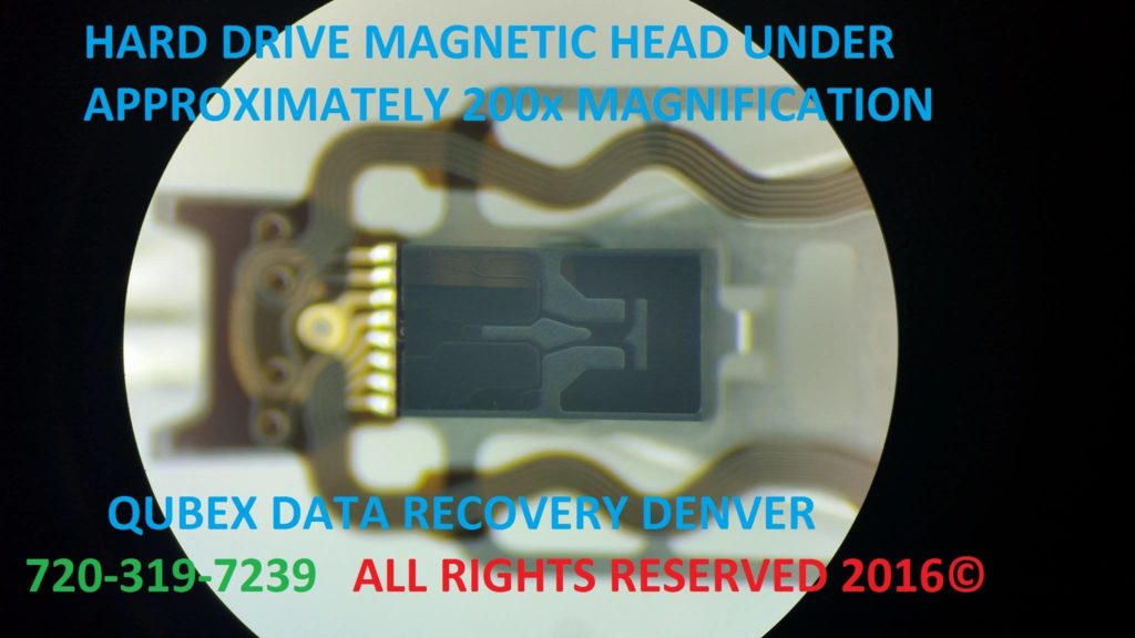 HDD HEAD MAGNIFIED 200x